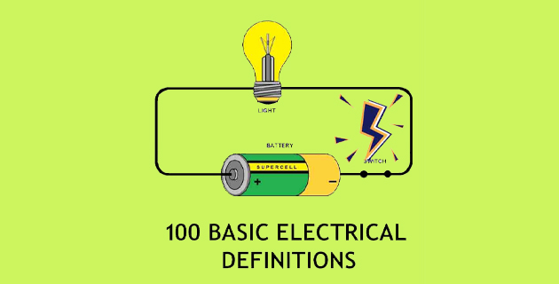 electrical definitions, basic electrical definitions