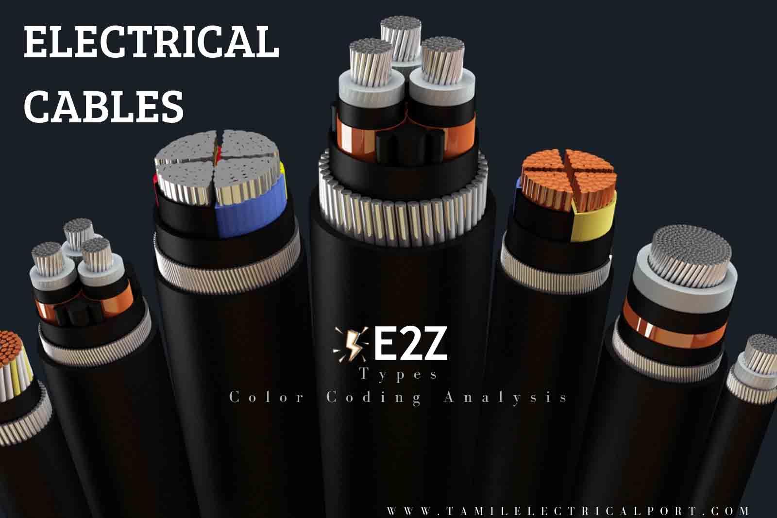 electrical cable, electrical cable types, electrical cable sizes, electrical wiring